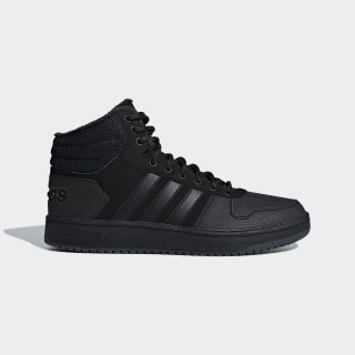 Высокие кеды Hoops 2.0 Mid core black / core black / carbon B44621