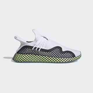 Deerupt S Runner Shoes Cloud White / Core Black / Hi-Res Yellow EE5660