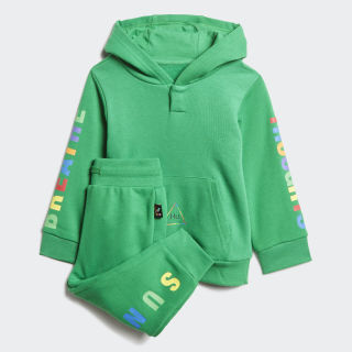 Pharrell Williams Hooded Track Suit Green FR9070