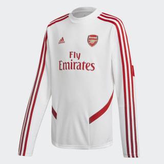 Arsenal Top Training Longsleeve White / Scarlet EJ6284