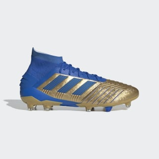 Predator 19.1 Firm Ground Cleats Gold Metallic / Football Blue / Cloud White F35608