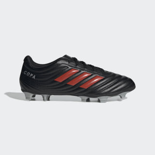 Calzado De Fútbol Para Pasto Natural Copa 19.4 Core Black / Hi-Res Red / Silver Metallic F35498