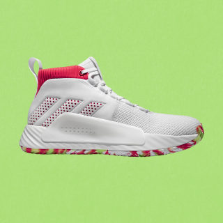 Dame 5 Schuh Ftwr White / Shock Red / Crystal White BB9312