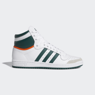 Top Ten Hi Schuh Cloud White / Collegiate Green / Orange EF2516