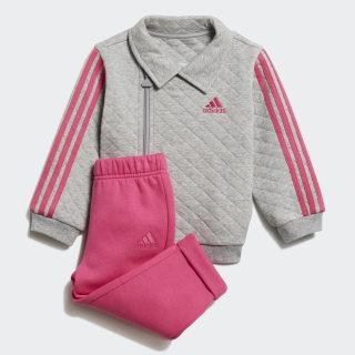 Jogger Trainingsanzug Medium Grey Heather / Real Magenta / White DJ1555