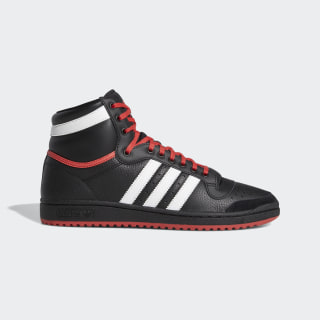 Top Ten Hi Shoes Core Black / Cloud White / Glory Red EF6365
