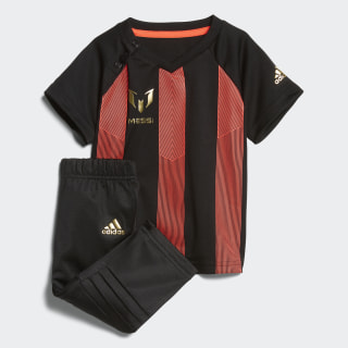 Conjunto Messi Mini Me BLACK/SOLAR RED/GOLD MET. BLACK/SOLAR RED/GOLD MET. CF7432