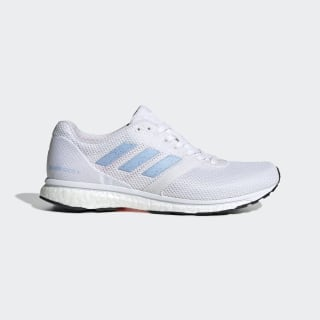 Adizero Adios 4 Shoes Cloud White / Glow Blue / Solar Orange EF1456