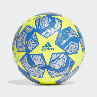 UCL Finale Istanbul Club Ball Solar Yellow / Silver Metallic / Glow Blue FH7379
