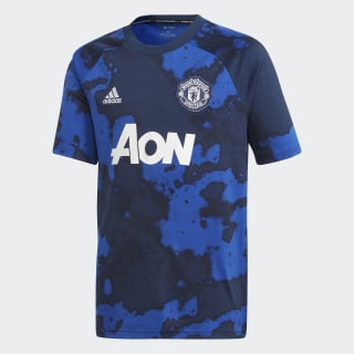Maillot d'échauffement Manchester United Domicile Mystery Ink / Collegiate Navy DX9090