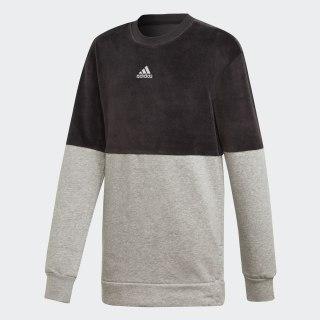 ID Long Crew Sweatshirt Black / Medium Grey Heather / White ED4654