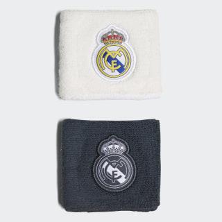 Muñequeras primera y segunda equipación Real Madrid Core White / Black / Tech Onix / Bold Onix CY5619