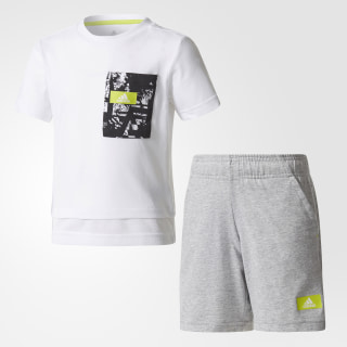 Conjunto Lb Tr Sum Set WHITE/SEMI SOLAR YELLOW /MEDIUM GREY HEATHER/SEMI SOLAR YELLOW CF1317