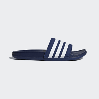 Шлепанцы adilette Cloudfoam Plus Stripes dark blue / ftwr white / dark blue B42114