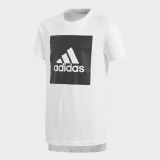 Camiseta Essentials Logo WHITE/BLACK CF6519
