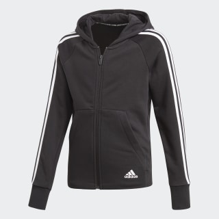 Must Haves 3-Stripes Hoodie Black / White DV0316