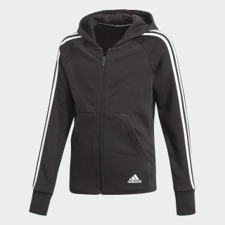 Veste à capuche Must Haves 3-Stripes Black / White DV0316