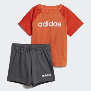 Conjunto Linear Summer True Orange / Active Orange / White DV1264
