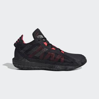 Баскетбольные кроссовки Dame 6 core black / core black / shock red EF9866