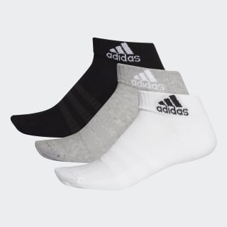 Cushioned Ankle Socks 3 Pairs Medium Grey Heather / White / Black DZ9364