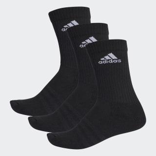 3-Streifen Performance Crew Socken Black/White AA2298