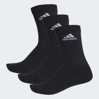 Calcetines 3 Franjas Performance Crew Black / Black / White AA2298