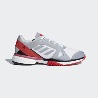 adidas by Stella McCartney Barricade Boost Shoes Mid Grey / Mid Grey / Core Red AC8259