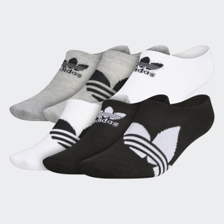 Trefoil Super-No-Show Socks 6 Pairs Black CK6735