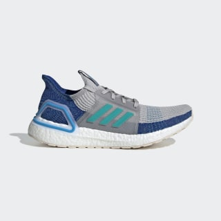 Ultraboost 19 Shoes Grey Two / Grey Two / Shock Cyan F35240