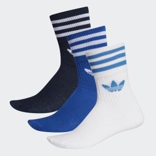 Ponožky Mid-Cut Crew – 3 páry Collegiate Navy / Collegiate Royal / White ED9395