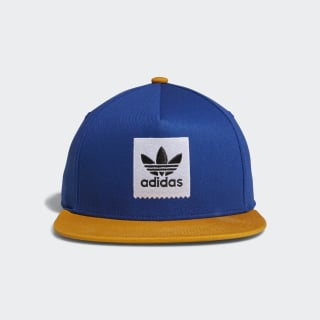 Two-Tone Trefoil Snapback Hat collegiate royal / tactile yellow f17 DH2569