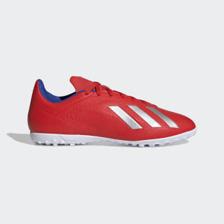X Tango 18.4 Turf Shoes Active Red / Silver Metallic / Bold Blue BB9413