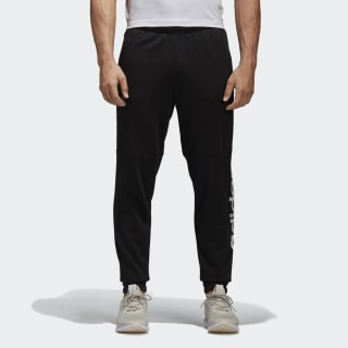 Essentials Linear Logo Pants Black/White BQ9090