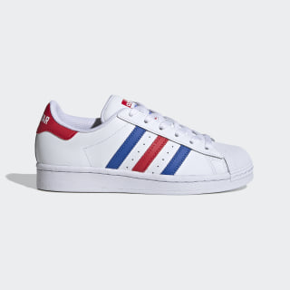 Superstar Schuh Cloud White / Blue / Team Colleg Red FV3687
