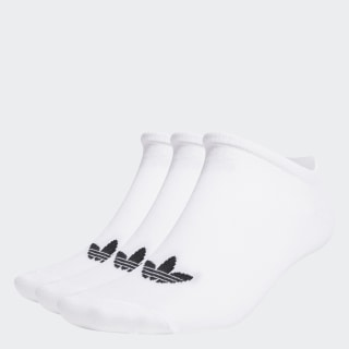 Trefoil Liner Socks 3 Pairs White / White / Black S20273