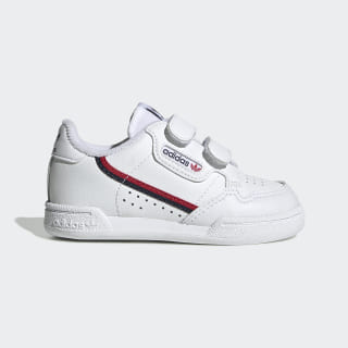 Continental 80 sko Cloud White / Cloud White / Scarlet EH3230