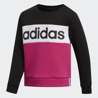Pieced Crew Pullover Sweatshirt Black CM5028