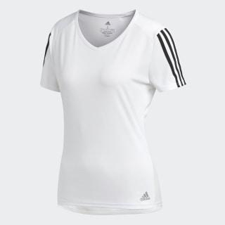 Camiseta Running 3 bandas White / Black CZ7571