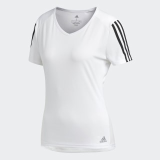 T-shirt Running 3-Stripes White / Black CZ7571