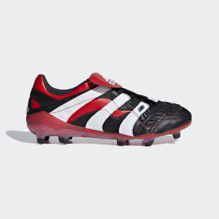 Predator Accelerator Firm Ground Cleats Core Black / Cloud White / Red D96665