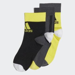 Три пары носков Ankle Grey Six / Black / Shock Yellow FN0993