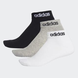 HC Bilek Boy Çorap - 3 Çift Black / Medium Grey Heather / White FJ7714