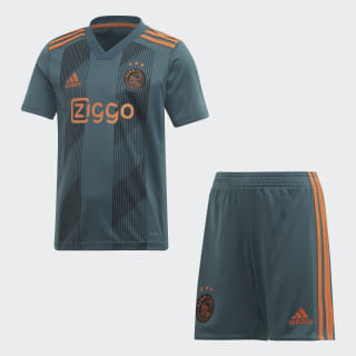 Mini Kit Away Ajax Amsterdam Tech Green / Black / Semi Solar Orange EI7377