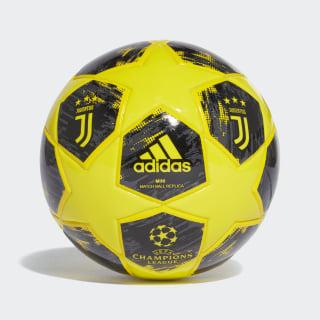 Футбольный мини-мяч Juventus Finale 18 shock yellow / yellow / carbon / black CW4148