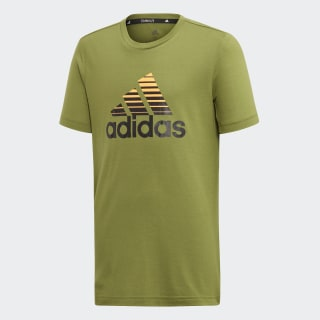 Polera Prime Tech Olive / Black / Flash Orange ED5752