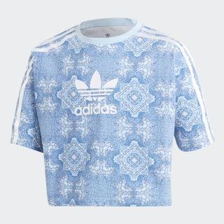 T-shirt Culture Clash 3-Stripes Multicolor / Clear Sky / White DV2355