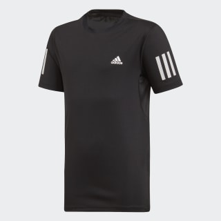 Футболка для тенниса 3-Stripes Club Black / White DU2487