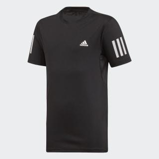 Playera 3-Stripes Club Black / White DU2487