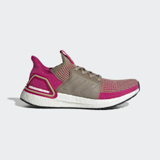Ultraboost 19 Shoes Trace Khaki / Real Magenta / Shock Pink G27497