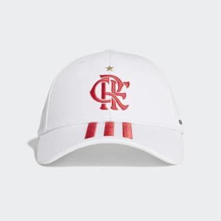 Boné Baseballl CR Flamengo 2 White / Scarlet / Black FJ0972